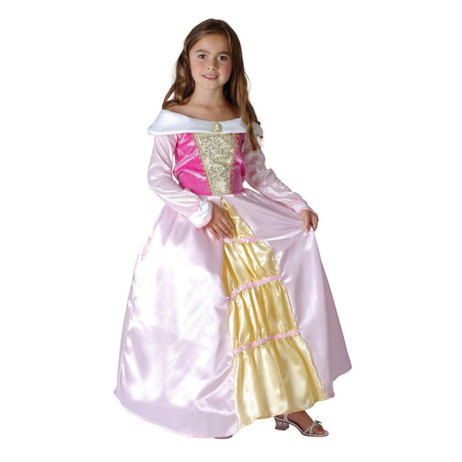 Pink-Gold - Front - Bristol Novelty Childrens-Girls Sleeping Princess Costume