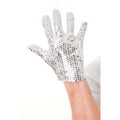 White-Silver - Front - Bristol Novelty Unisex Adults Sequin Glove