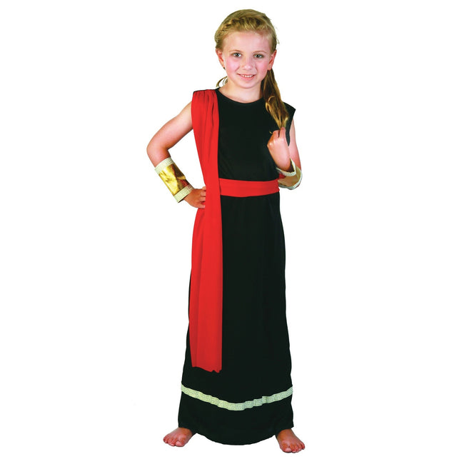 Black-Red-Gold - Front - Bristol Novelty Childrens-Girls Roman Costume