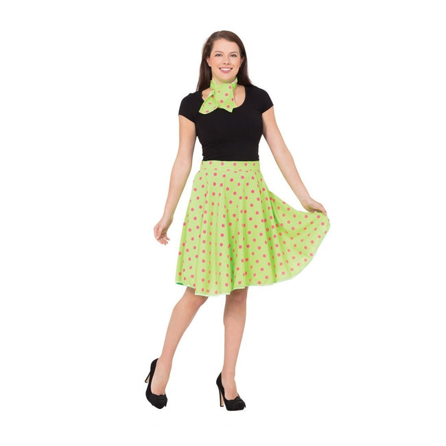 Green - Front - Bristol Novelty Womens-Ladies Rock N Roll Skirt