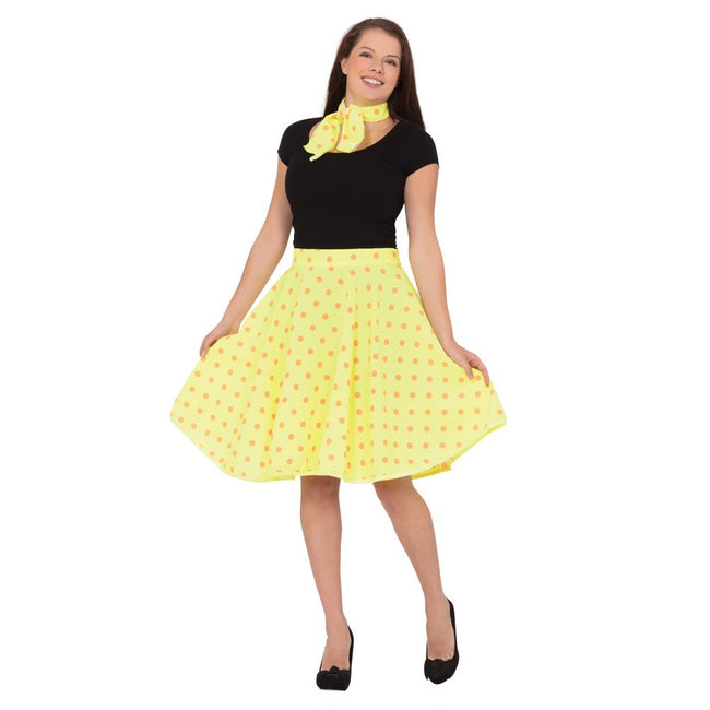 Yellow - Front - Bristol Novelty Womens-Ladies Rock N Roll Skirt