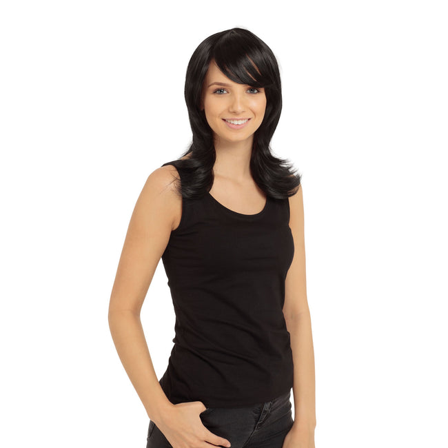 Black - Front - Bristol Novelty Womens-Ladies Francesca Wig