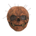 Brown - Front - Bristol Novelty Unisex Adults Skull Pin Latex Mask