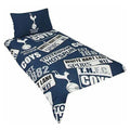 Multicoloured - Back - Tottenham Hotspur Patch Single Duvet And Pillow Set