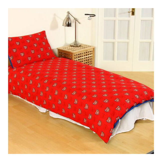 Red - Back - Arsenal FC Pulse Reversible Duvet And Pillow Case Set