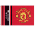Red - Back - Manchester United FC Wordmark Stripes Flag
