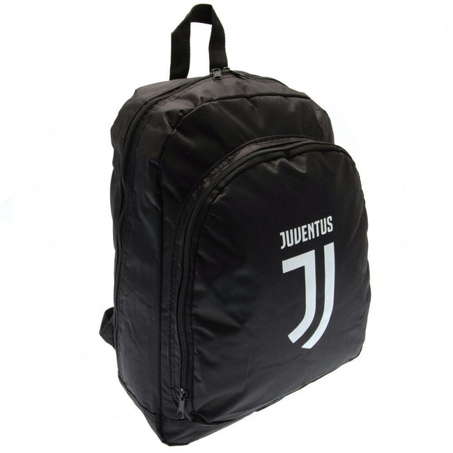 Black - Front - Juventus FC Crest Top Quality Backpack