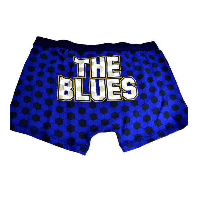 Blue - Back - Chelsea FC Official Childrens Boys Football Boxer Shorts