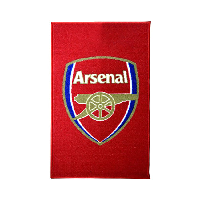 Red-Gold - Front - Arsenal FC Official Football Crest Rug