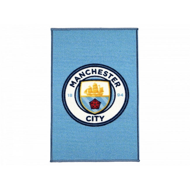 Multicoloured - Front - Manchester City FC Official Football Crest Rug