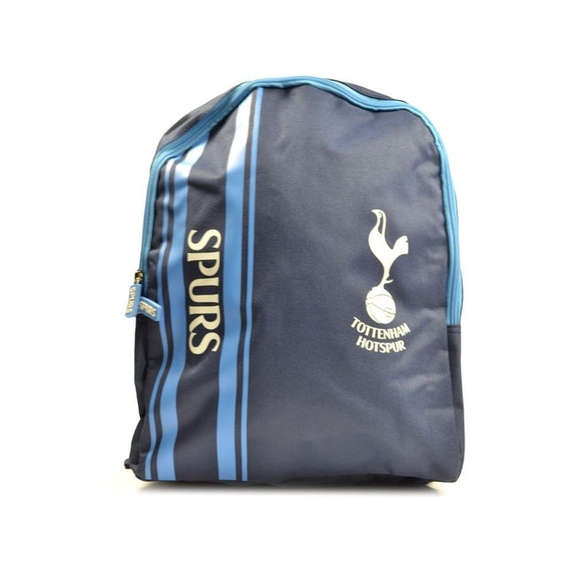 Sky Blue-Grey - Front - Tottenham Hotspur FC Striped Backpack