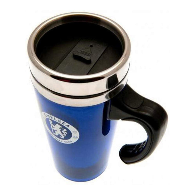 Blue-Silver - Side - Chelsea FC Official Football Travel Mug