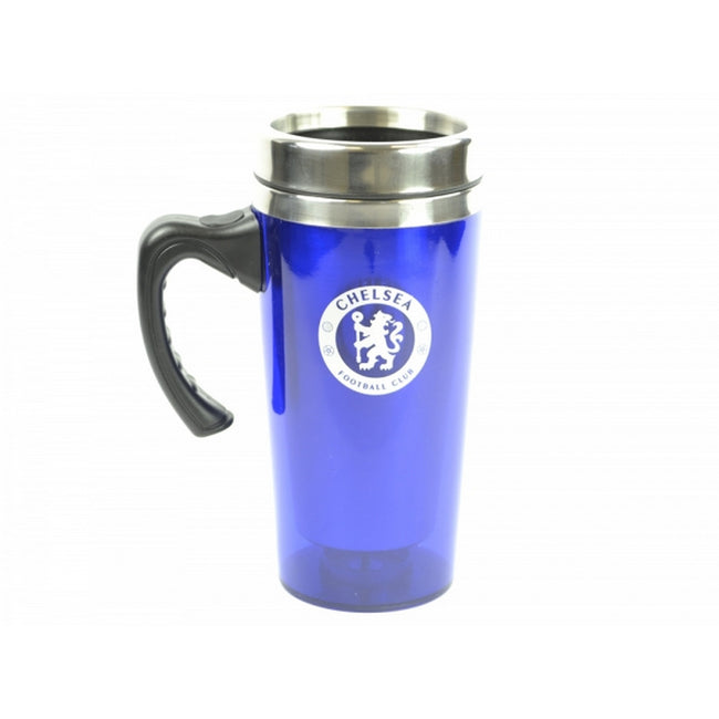 Blue-Silver - Front - Chelsea FC Official Football Travel Mug