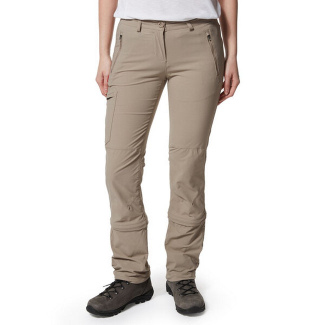 Mushroom - Back - Craghoppers Womens-Ladies NosiLife Pro II Capri Convertible Trousers