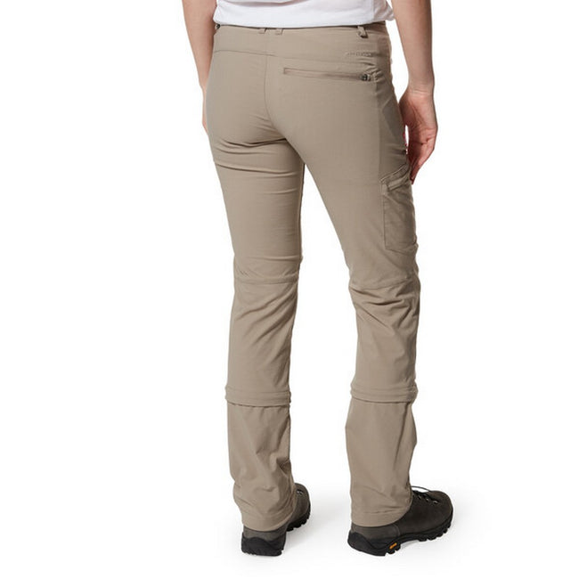 Mushroom - Side - Craghoppers Womens-Ladies NosiLife Pro II Capri Convertible Trousers