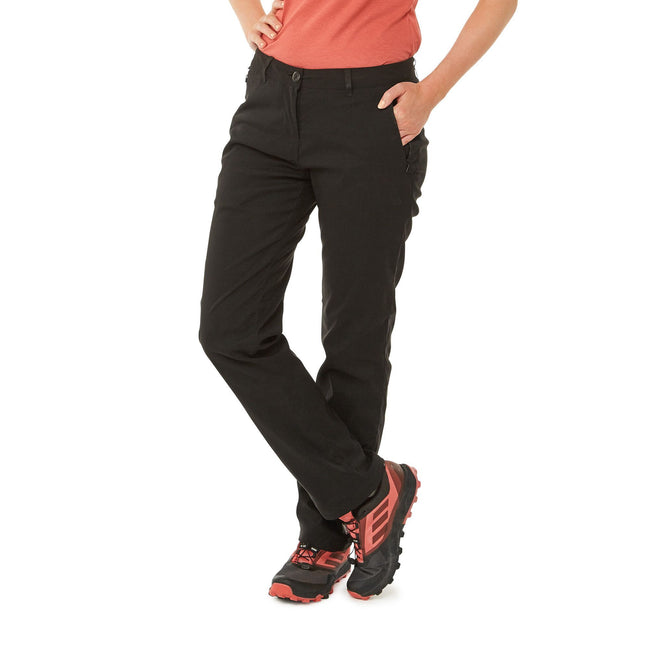 Black - Back - Craghoppers Womens-Ladies Kiwi Pro II Winter Lined Trousers.