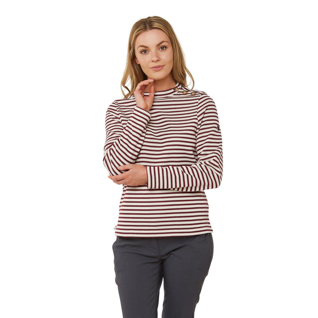 Wildberry Stripe - Back - Craghoppers Womens-Ladies Balmoral Crew Neck Long Sleeve Fleece