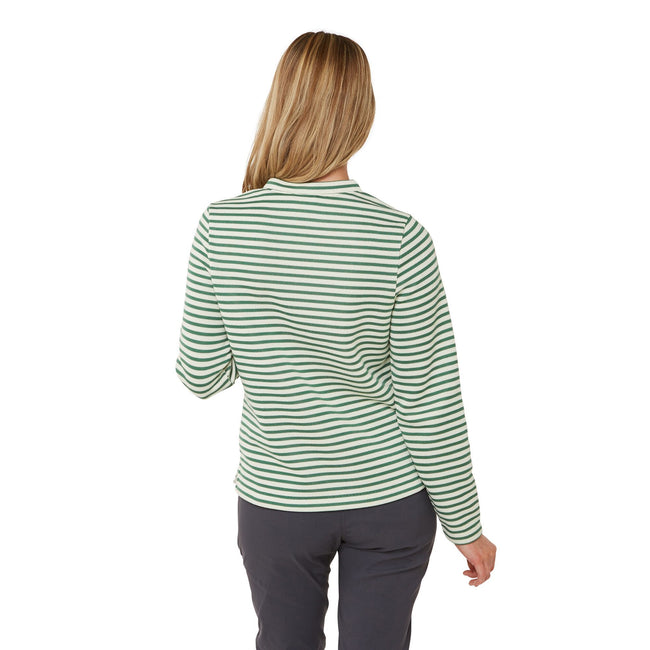 Verde Stripe - Back - Craghoppers Womens-Ladies Balmoral Crew Neck Long Sleeve Fleece