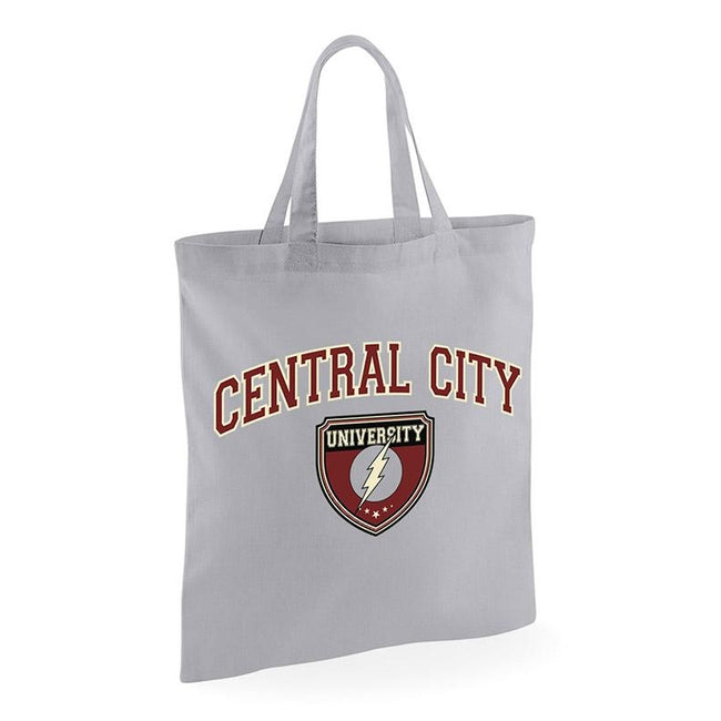 Grey - Front - Flash Central City University Tote Bag