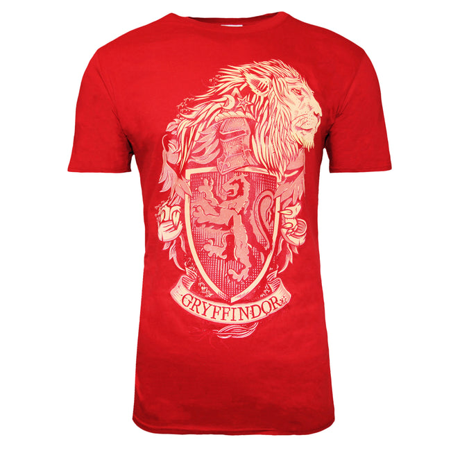 Red - Front - Harry Potter Unisex Adults Gryffindor Design T-shirt