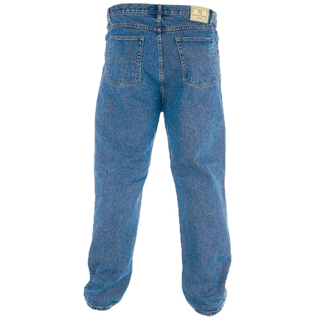 Stonewash - Back - Duke Mens Rockford Carlos Stretch Jeans