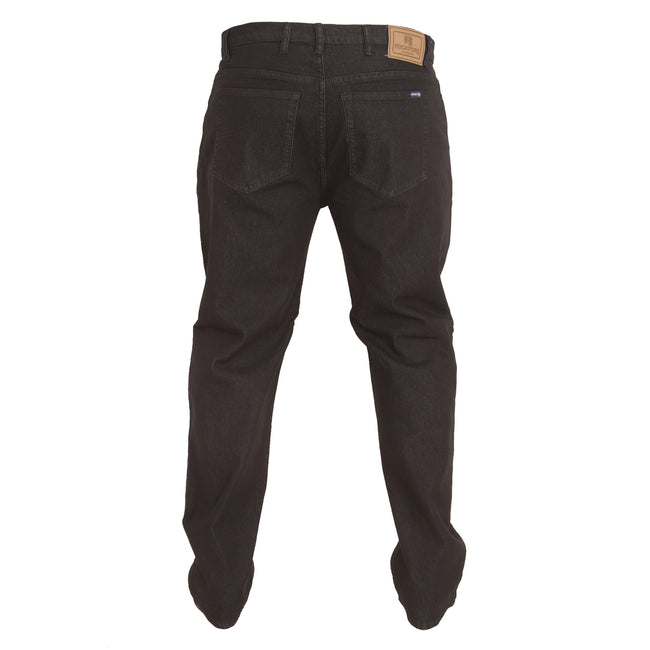 Black - Back - Duke Mens Rockford Carlos Kingsize Stretch Jeans