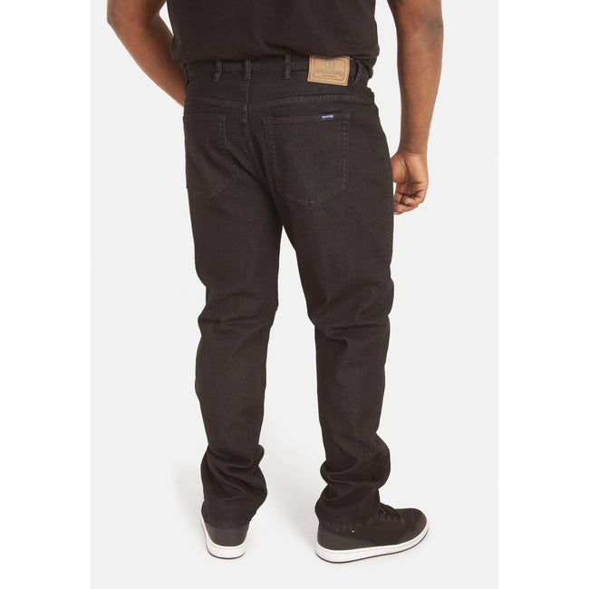 Black - Lifestyle - Duke Mens Rockford Carlos Kingsize Stretch Jeans