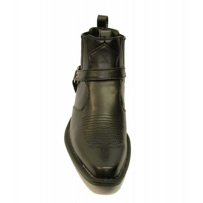 Black - Lifestyle - US Brass Mens Eastwood Cowboy Ankle Boots