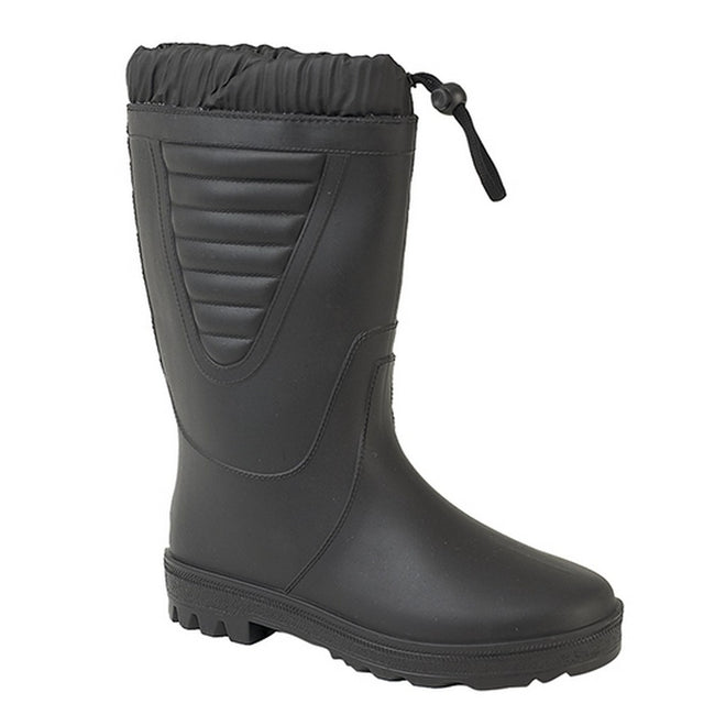 All Black - Front - StormWells Unisex Tie Top Polar Boots