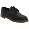 Black - Front - Grafters Mens Smooth Leather Uniform Shoes With Air Cushioned Sole
