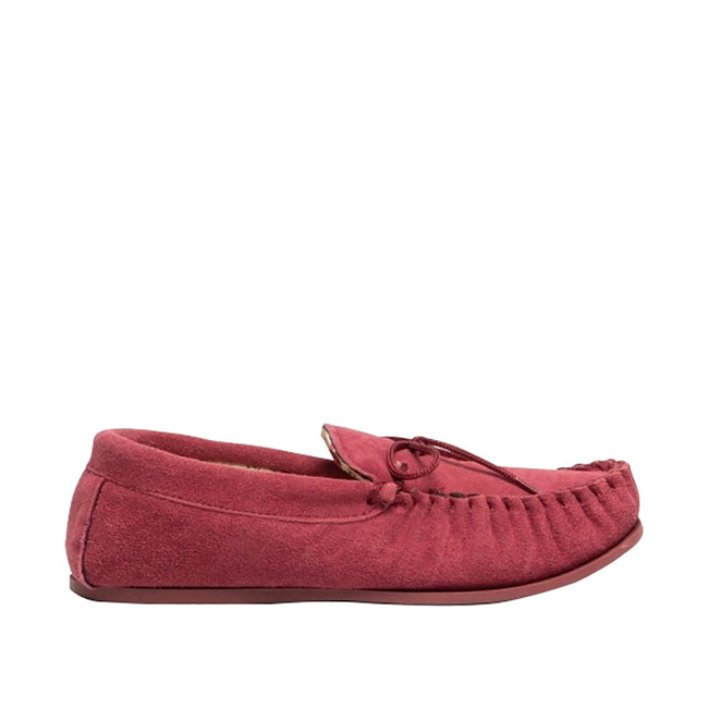 Crimson Red - Back - Mokkers Womens-Ladies Lily Slip On Slippers