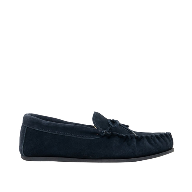 Navy - Back - Mokkers Womens-Ladies Lily Slip On Slippers
