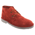 Red - Front - Roamers Mens Real Suede Unlined Desert Boots