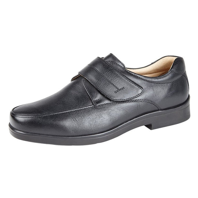 Brown - Front - Roamers Mens Touch Fastening Mudguard Casual Shoes