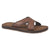 Brown - Front - PDQ Mens Lightweight Crossover Mule Sandals