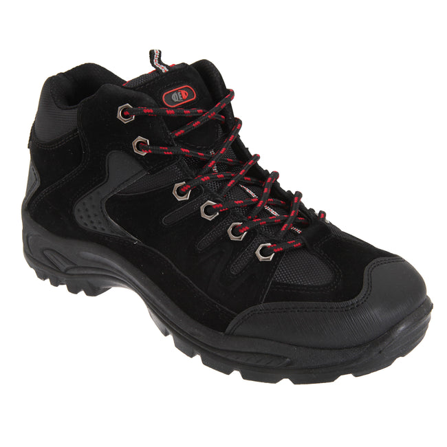 Black - Front - Dek Mens Ontario Lace-Up Hiking Trail Boots