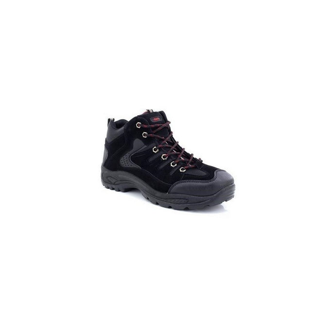 Black - Pack Shot - Dek Mens Ontario Lace-Up Hiking Trail Boots