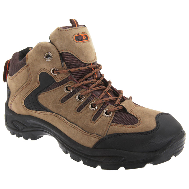 Khaki - Front - Dek Mens Ontario Lace-Up Hiking Trail Boots