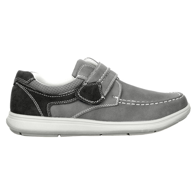 Black - Front - Scimitar Mens Touch Fastening Casual Shoe
