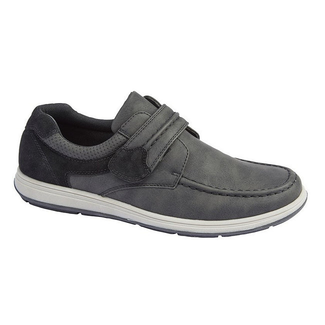 Tan - Front - Scimitar Mens Touch Fastening Casual Shoe