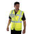 Yellow - Front - Grafters Unisex Safety Hi-Visibility Executive Waistcoat