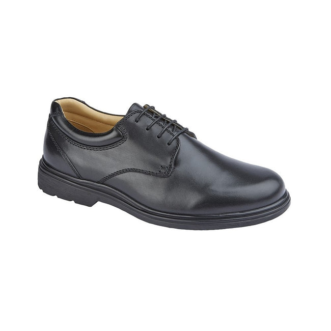 Black - Front - Roamers Mens Leather Shoes