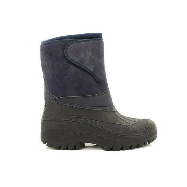Navy Blue - Back - StormWells Adults Unisex Touch Fastening Insulated Boots