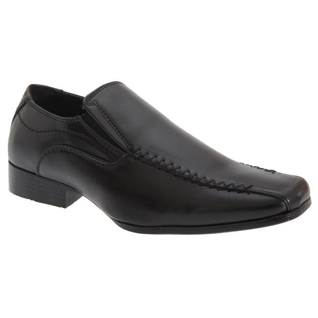 Black - Front - US Brass Boys Raven Twin Gusset Shoes
