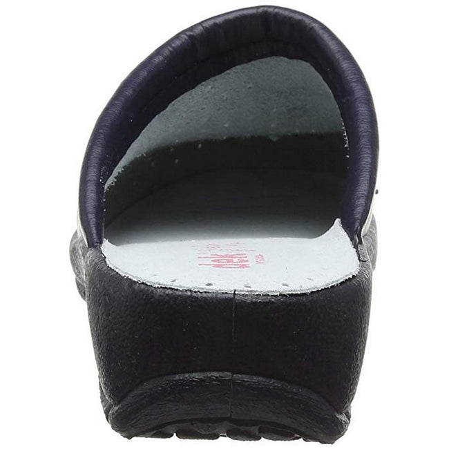 Navy Blue - Lifestyle - Dek Womens-Ladies Coated Leather Clogs