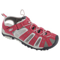 Black-Pink - Front - PDQ Womens-Ladies Toggle & Touch Fastening Sports Sandals