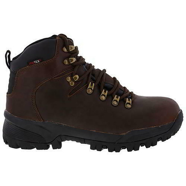 Brown - Back - Johnscliffe Mens Canyon Leather Superlight Hiking Boots