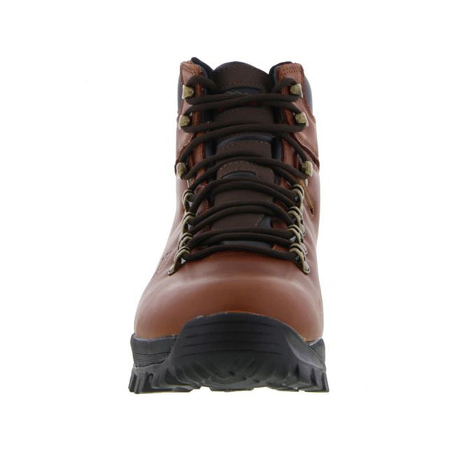 Conker Brown - Front - Johnscliffe Mens Canyon Leather Superlight Hiking Boots