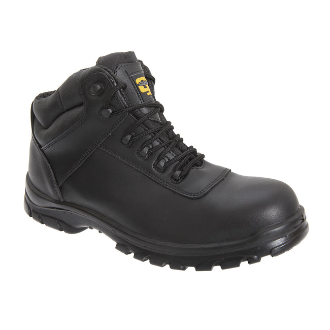 Black - Front - Grafters Mens Fully Composite Non-Metal Safety Hiker Type Boots
