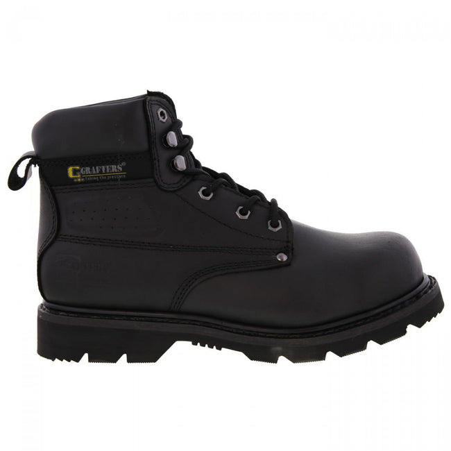 Black - Back - Grafters Mens Gladiator Safety Boots